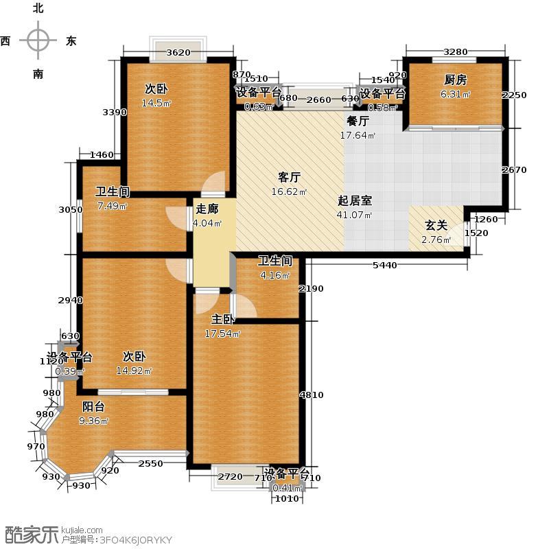 丽水金都丽水金都A户型3室2厅2卫1厨131.02㎡户型3室2厅2卫