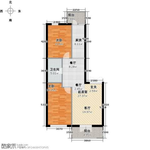 北岸七英里2室0厅1卫1厨116.00㎡户型图