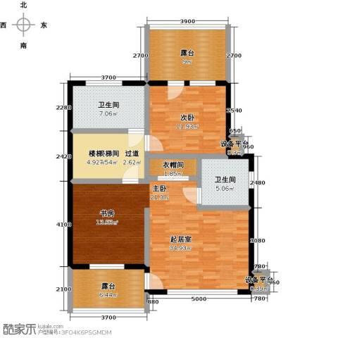 海通时代康桥3期1室0厅2卫0厨123.00㎡户型图