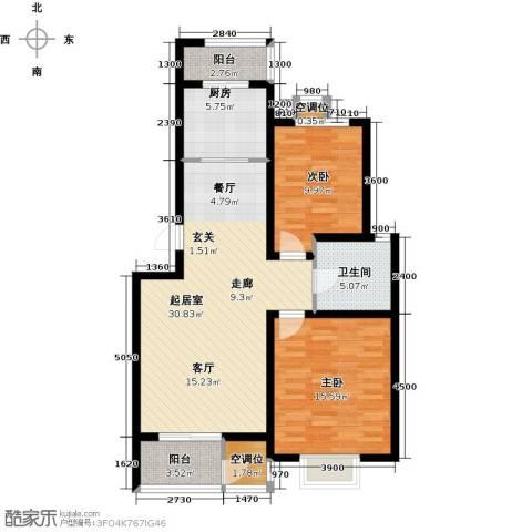 津品鉴筑2室0厅1卫1厨98.00㎡户型图
