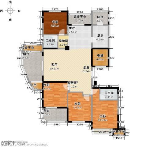 昆承湖国际花园4室0厅2卫1厨151.00㎡户型图