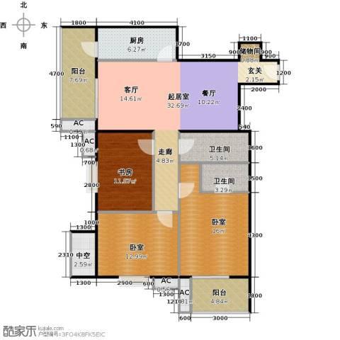 瑞丽江畔1室0厅2卫1厨144.00㎡户型图