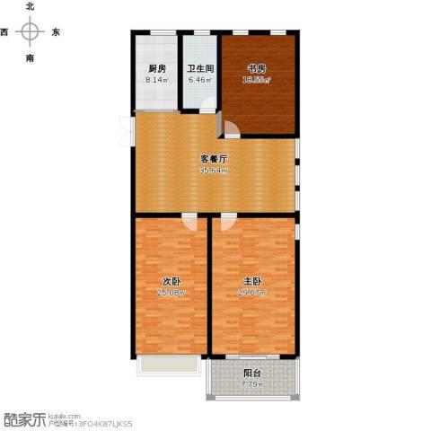 正德广场3室1厅1卫1厨182.00㎡户型图