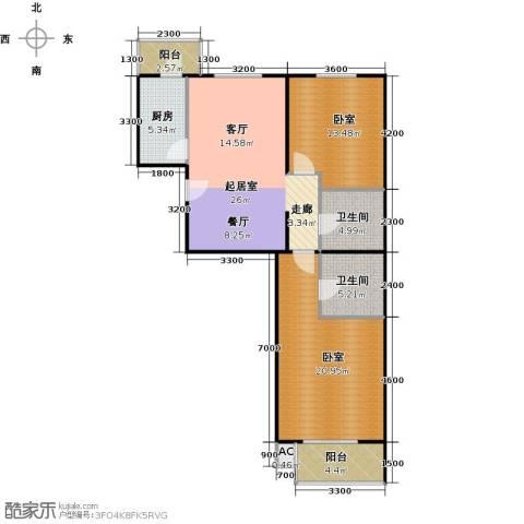 瑞丽江畔2卫1厨113.00㎡户型图