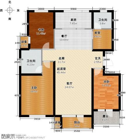 上城雅园3室0厅2卫1厨135.00㎡户型图