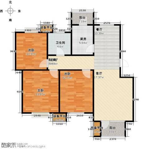 芒果郡3室1厅1卫1厨119.00㎡户型图