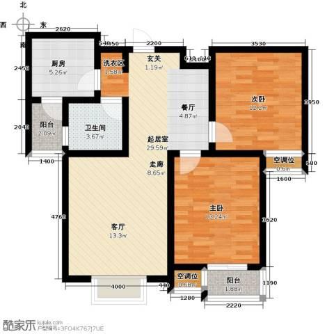 津品鉴筑2室0厅1卫1厨95.00㎡户型图