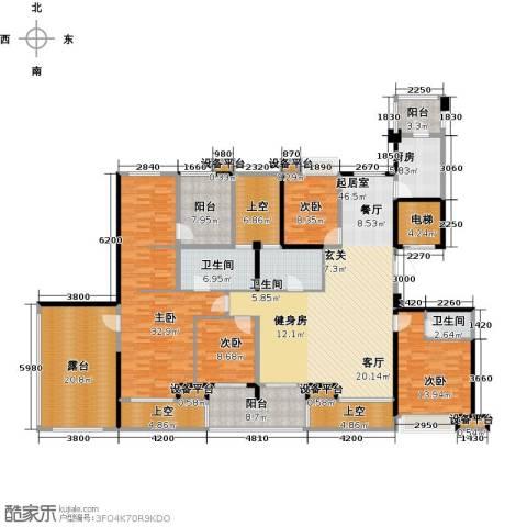 昆承湖国际花园4室0厅3卫1厨220.00㎡户型图