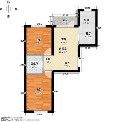 公元天下2室0厅1卫1厨70.00㎡户型图