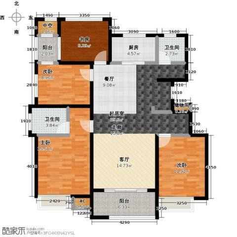 国贸仁皇4室0厅2卫1厨131.00㎡户型图