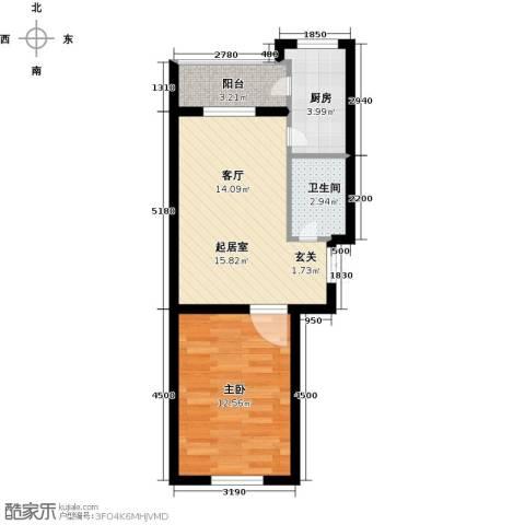 公元天下1室0厅1卫1厨56.00㎡户型图