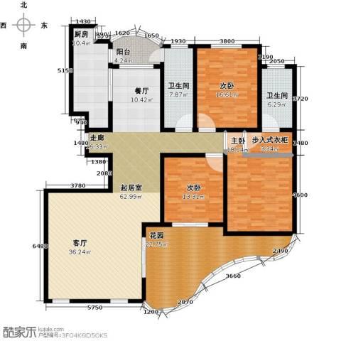 鲍德・现代逸城3室0厅2卫1厨235.00㎡户型图