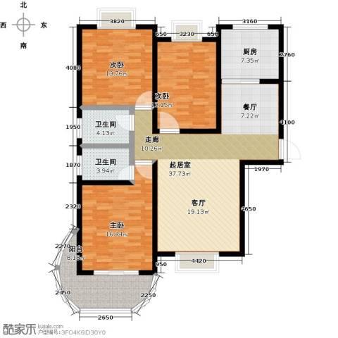 鲍德・现代逸城3室0厅2卫1厨150.00㎡户型图