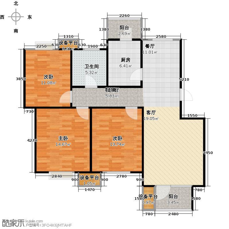 芒果郡107.00㎡三室两厅一卫――107.73平米-19套户型
