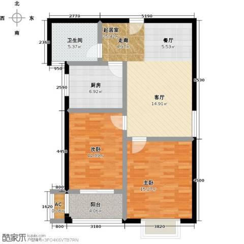 锦绣花园2室0厅1卫1厨101.00㎡户型图