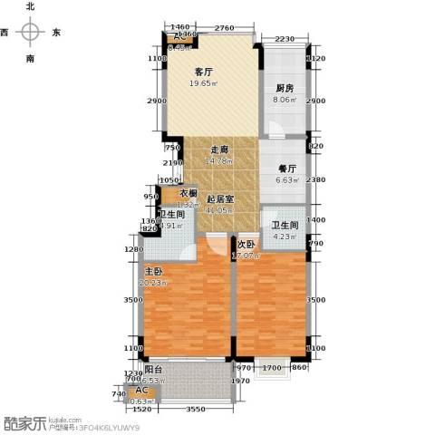 历山名郡一期2室0厅2卫1厨147.00㎡户型图