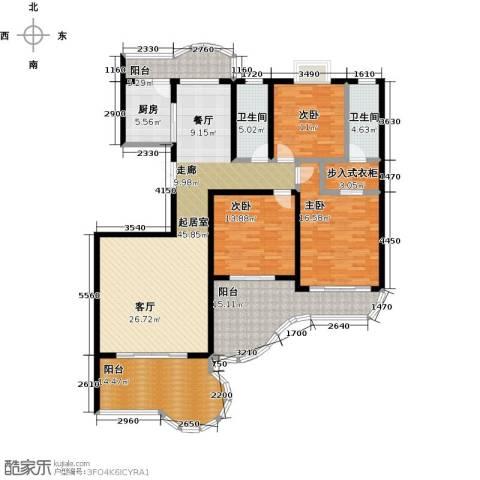 鲍德・现代逸城3室0厅2卫1厨162.00㎡户型图