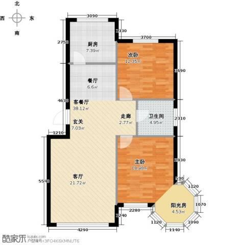 沈阳绿色家园2室1厅1卫1厨89.00㎡户型图