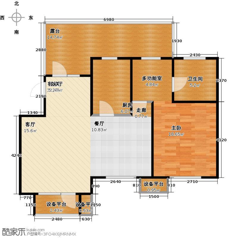 芒果郡73.00㎡一室三厅一卫――79.61平米户型
