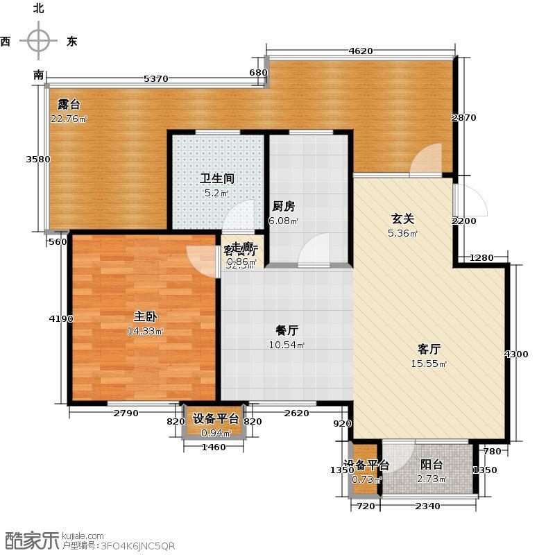 芒果郡73.00㎡一室两厅一卫――73.03平米户型