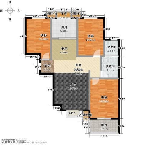 博世花倾城二区3室0厅1卫1厨112.00㎡户型图