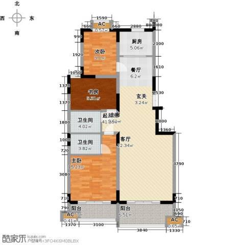 历山名郡一期3室0厅2卫1厨143.00㎡户型图