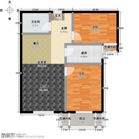 博世花倾城二区2室0厅1卫1厨82.00㎡户型图
