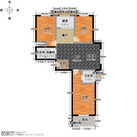 博世花倾城二区3室0厅2卫1厨111.00㎡户型图