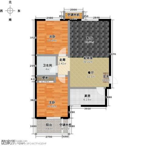 博世花倾城二区2室0厅1卫1厨90.00㎡户型图