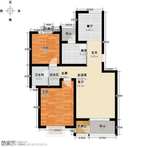 津品鉴筑2室0厅1卫1厨106.00㎡户型图