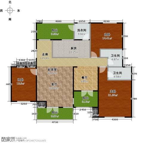 弘润金茂府3室0厅2卫1厨158.00㎡户型图