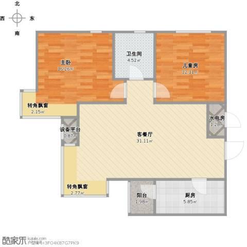 建投观海2室1厅1卫1厨100.00㎡户型图