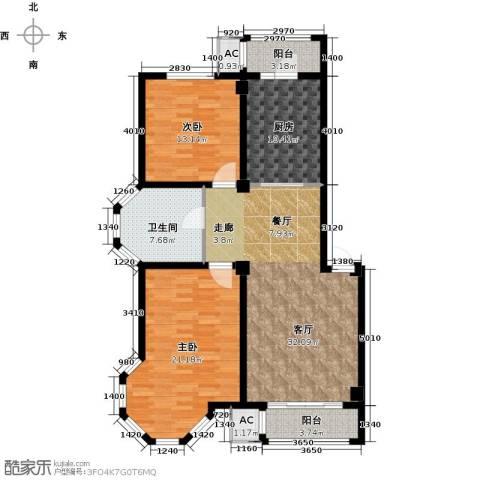 北国奥林匹克花园2室1厅1卫1厨106.64㎡户型图