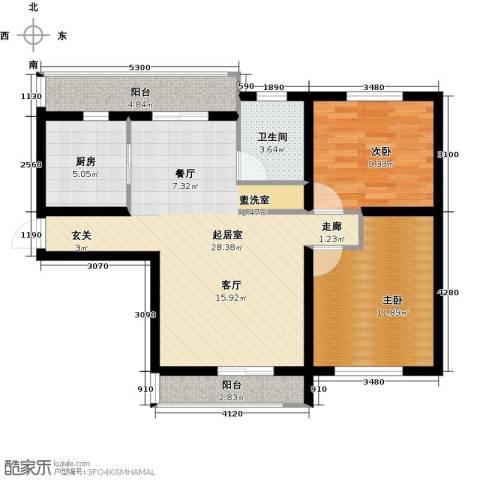 公元天下2室0厅1卫1厨95.00㎡户型图