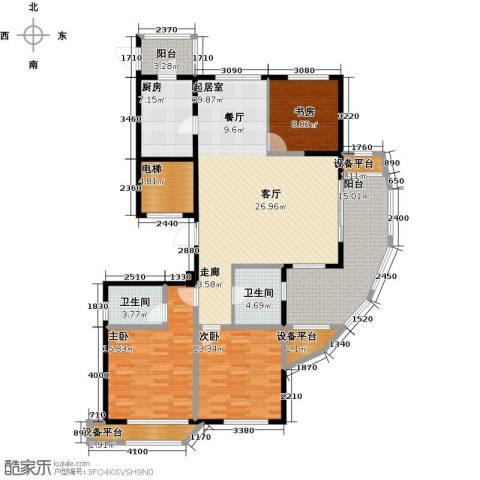 昆承湖国际花园3室0厅2卫1厨174.00㎡户型图