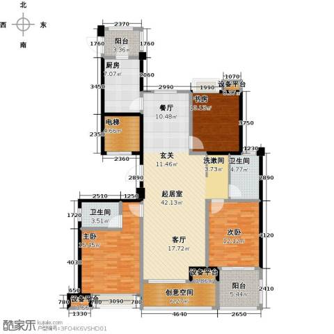 昆承湖国际花园3室0厅2卫1厨166.00㎡户型图