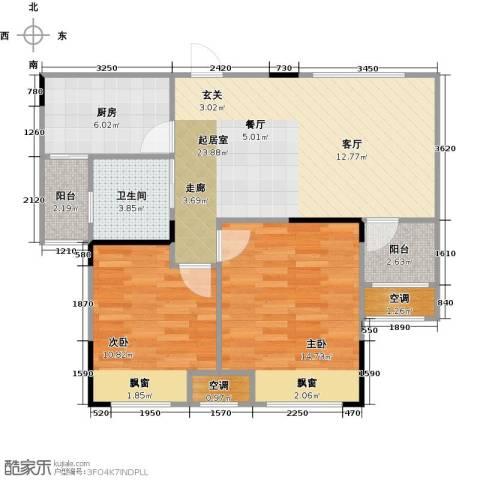 香颂小镇2室0厅1卫1厨72.00㎡户型图