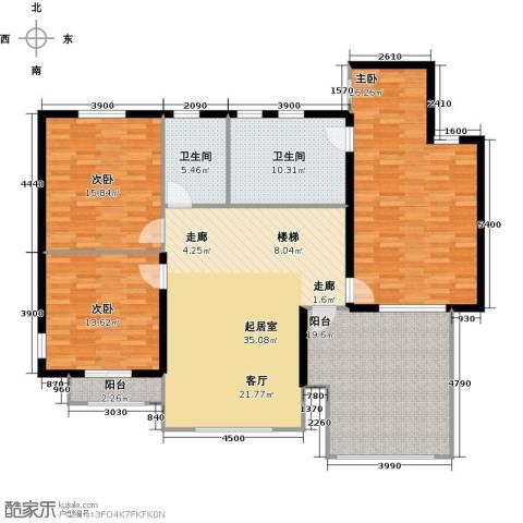 阅湖泊景湾3室0厅2卫0厨175.00㎡户型图