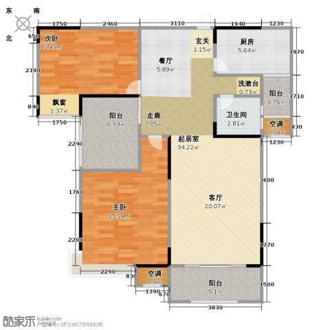 香颂小镇2室0厅1卫1厨93.00㎡户型图