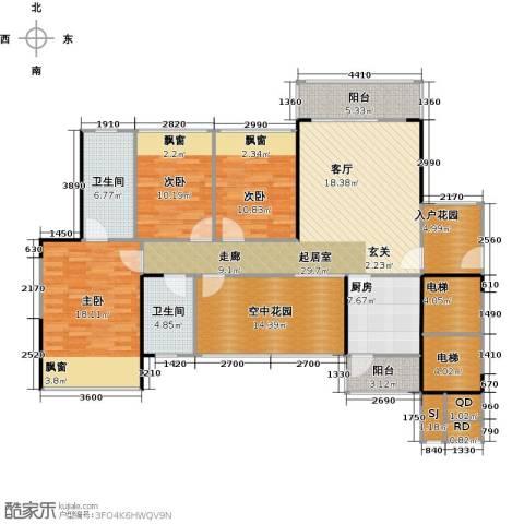 凯南莱弗城3室0厅2卫1厨127.06㎡户型图