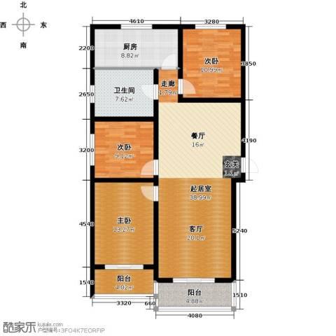 顺平水木清华3室0厅1卫1厨111.22㎡户型图
