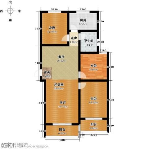 顺平水木清华3室0厅1卫1厨105.86㎡户型图