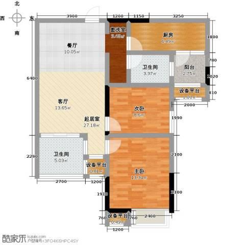 阳光新干线2室0厅2卫1厨91.00㎡户型图
