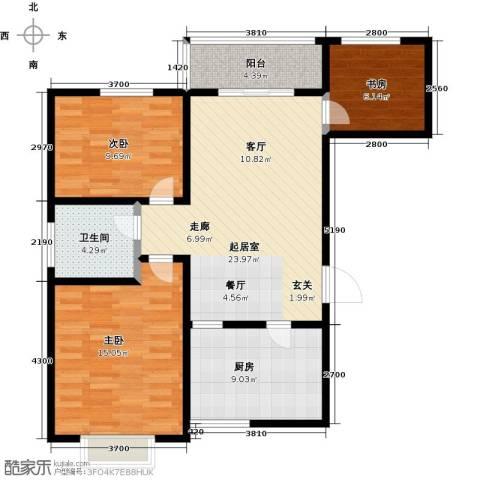 帝景国际3室0厅1卫1厨120.00㎡户型图