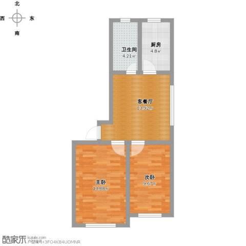 宇都和源2室1厅1卫1厨67.00㎡户型图