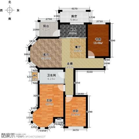 北国奥林匹克花园3室1厅1卫1厨119.08㎡户型图