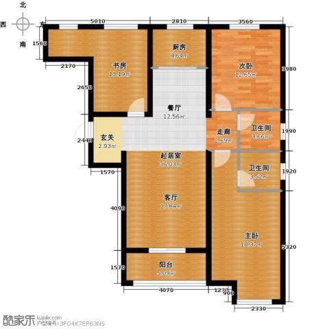 顺平水木清华3室0厅2卫1厨109.99㎡户型图