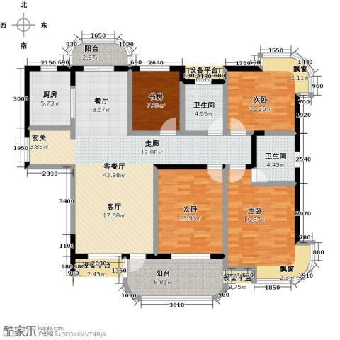 东方丽都花苑4室1厅2卫1厨147.00㎡户型图