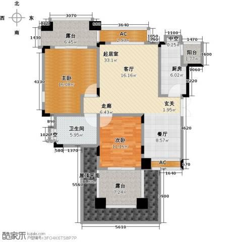 昕晖香缇漫城2室0厅1卫1厨104.02㎡户型图
