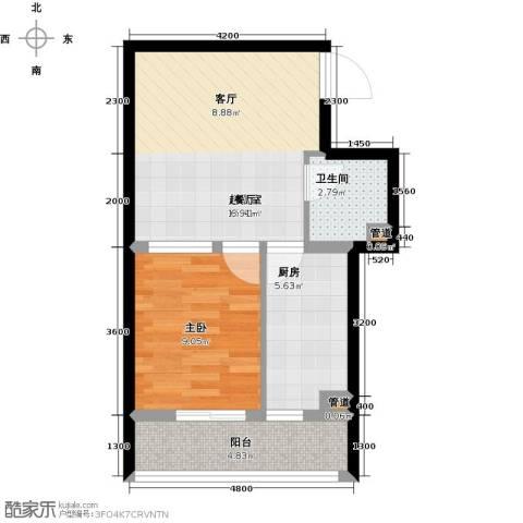 圣济经典・家园1室0厅1卫1厨50.00㎡户型图